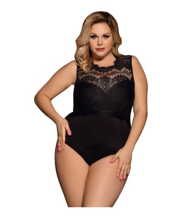 TEDDY OPACO NEGRO DE SUBLIME QUEEN PLUS SIZE