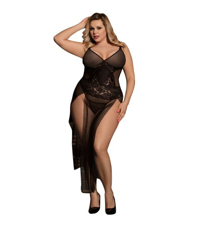 VESTIDO BORDADOS FLORALES DE SUBLIME QUEEN PLUS SIZE
