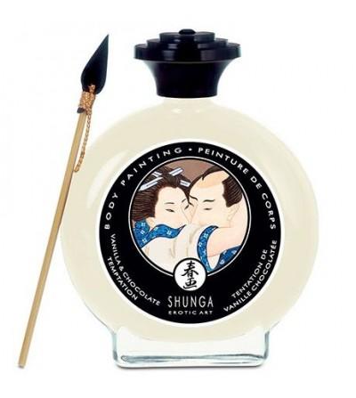 Shunga pintura corporal de vainilla y chocolate